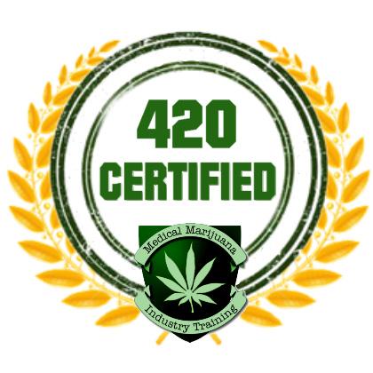 Medical marijuana training and education certificate